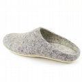 Women's Wool Slippers - Grey